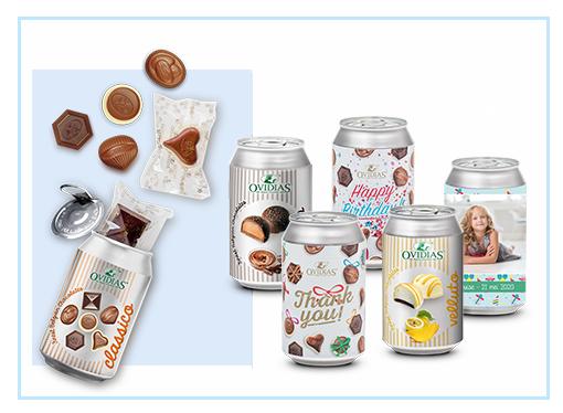 Belgische chocolade in blik