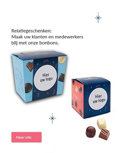 Maak uw klanten en medewerkers  blij met onze bonbons.