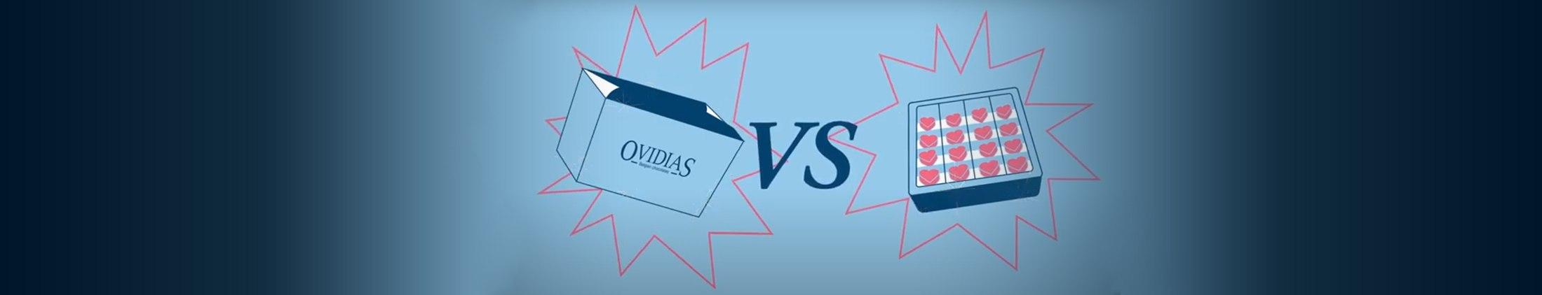Waarom worden de pralines van Ovidias individueel verpakt?