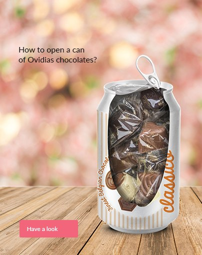 How to open a can  of Ovidias chocolates?