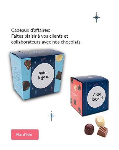 Faites plaisir à vos clients et  collaborateurs avec nos chocolats.