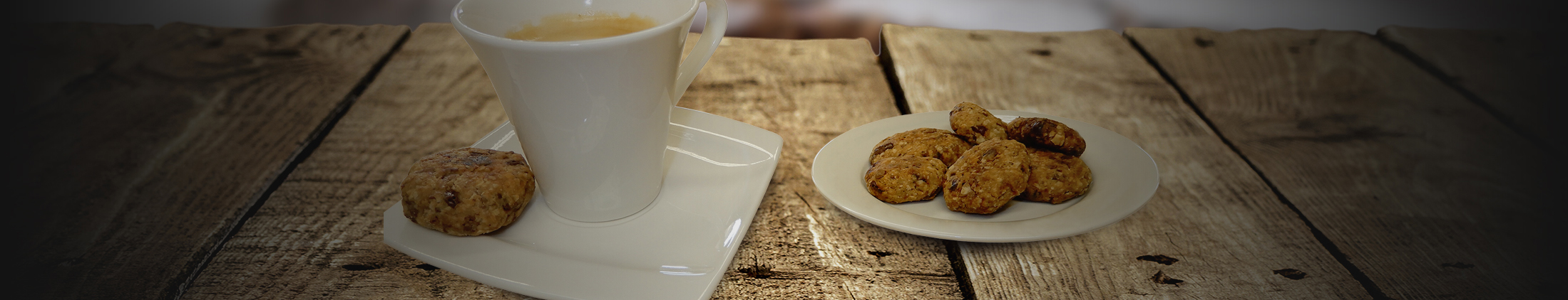 Oatmeal cookies with Ovidias speculoos chocolates